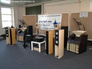 Unsere Lautsprecherphalanx